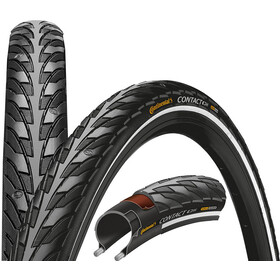 "Continental Contact Bike Tire SafetySystem Breaker 28"" wire reflex black"